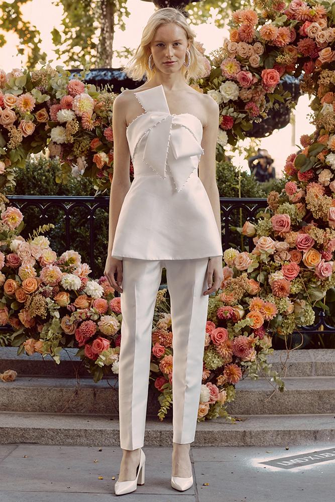 Lela Rose wedding pantsuit