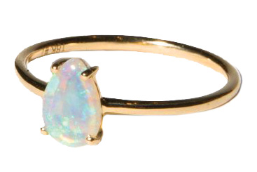 Australian opal ring by Fade to Black Studio