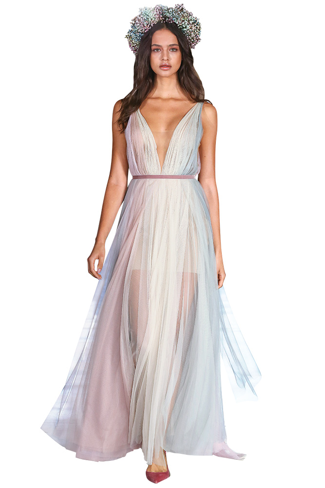 Iridescent wedding gown by Willowby by Watters