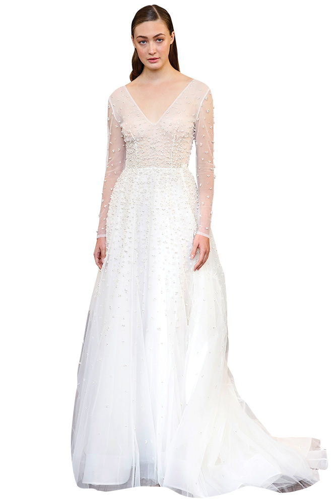 gracy accad pearl wedding gown
