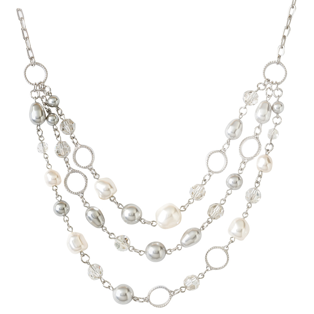 pearl necklace touchstone by swarovski crystal