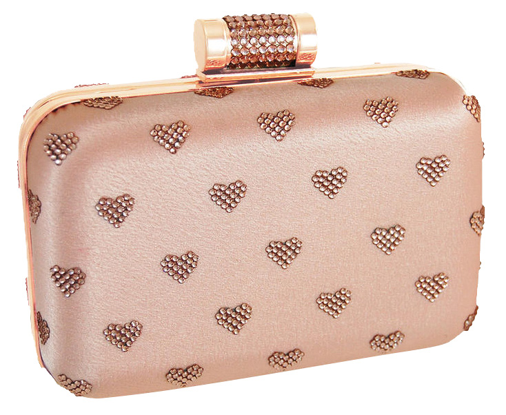 Crystal heart clutch by Inge Christopher