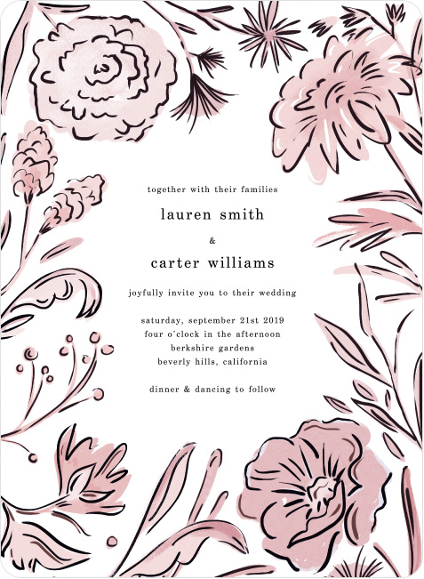 Vintage Frame wedding invite by Paper Culture