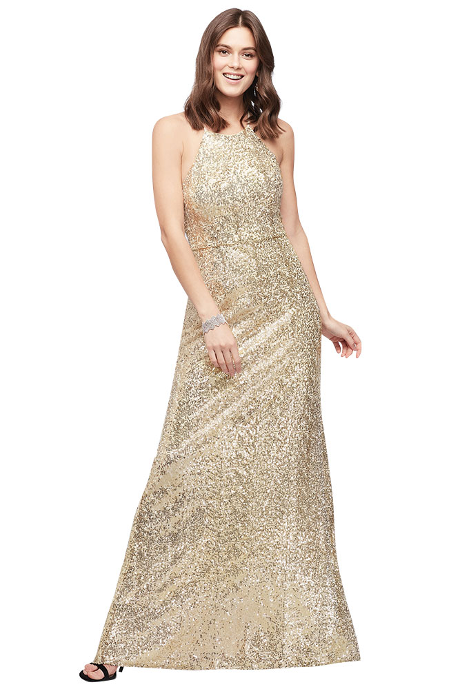 Davids Bridal shimmery wedding gown