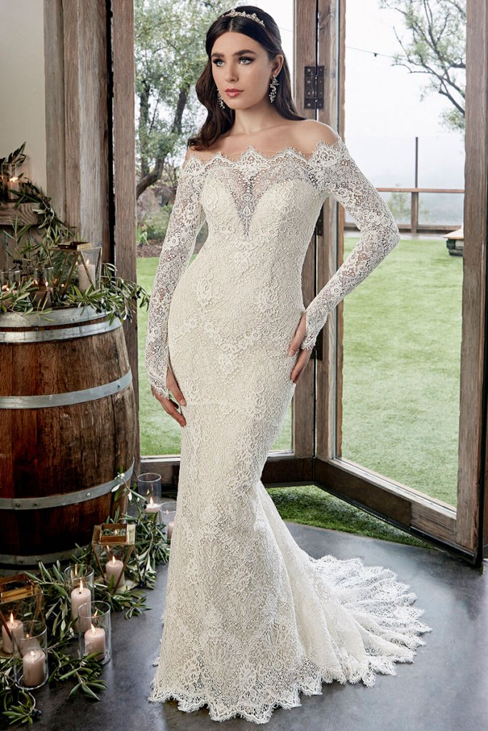 casablanca lace wedding gown