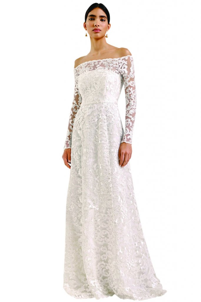 whistles lace wedding gown