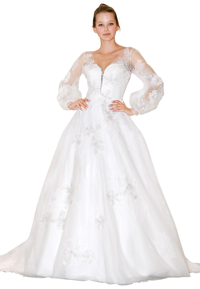 Bell Sleeve Wedding Gown by Randy Fenoli