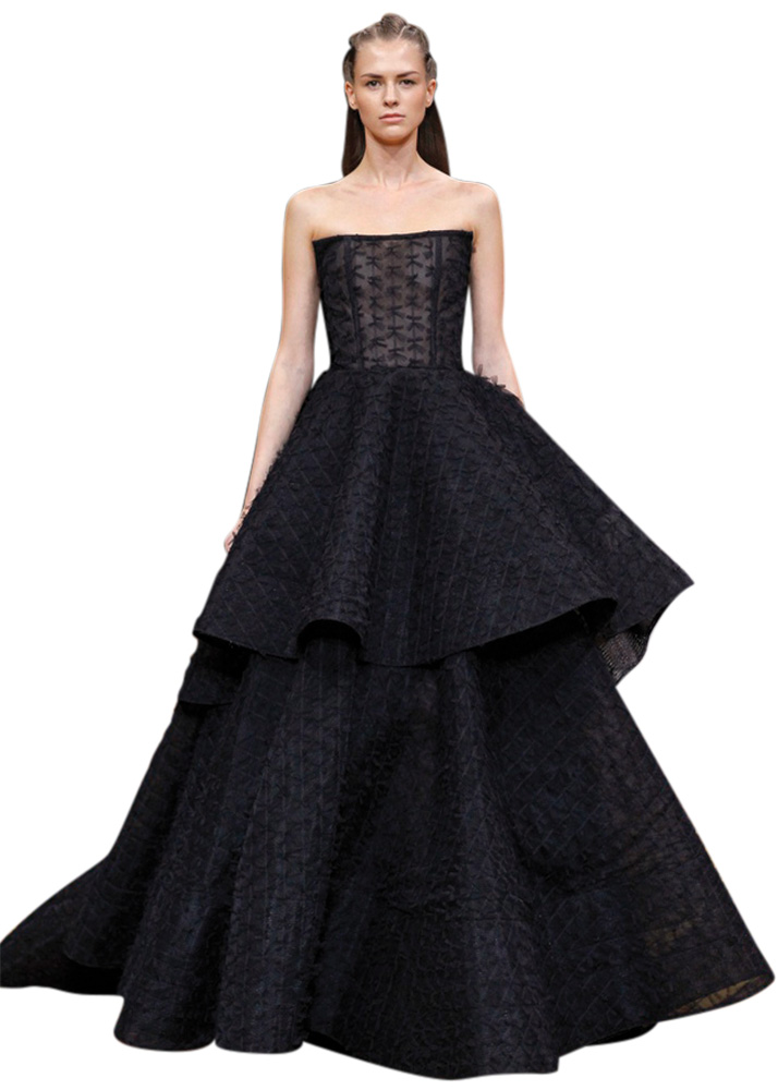 Black Wedding Gown by Christian Siriano