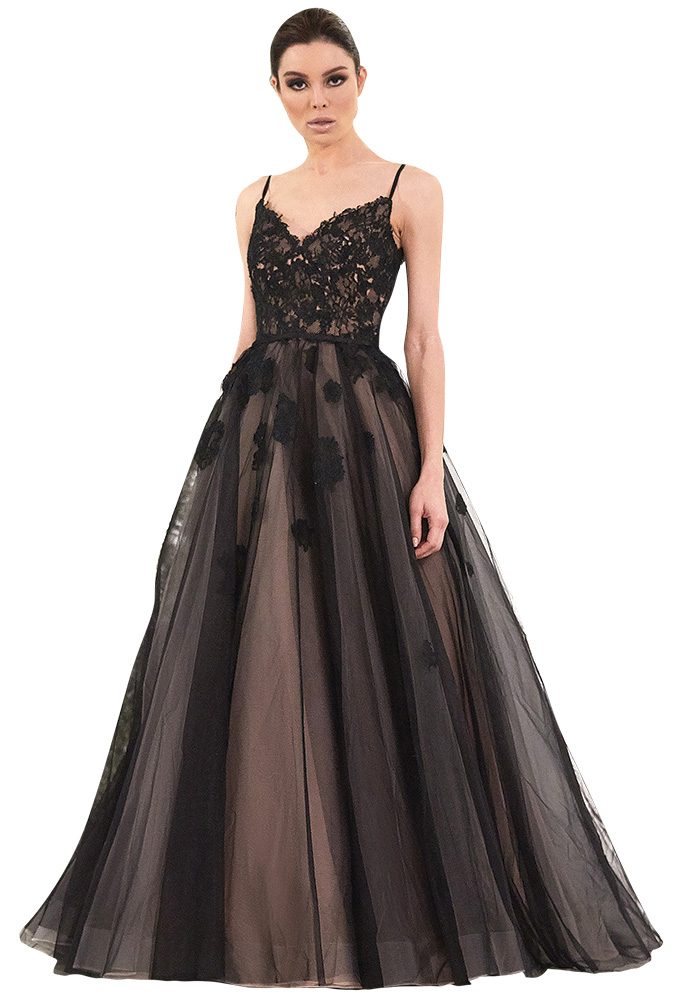 Black Wedding Gown by Cocomelody