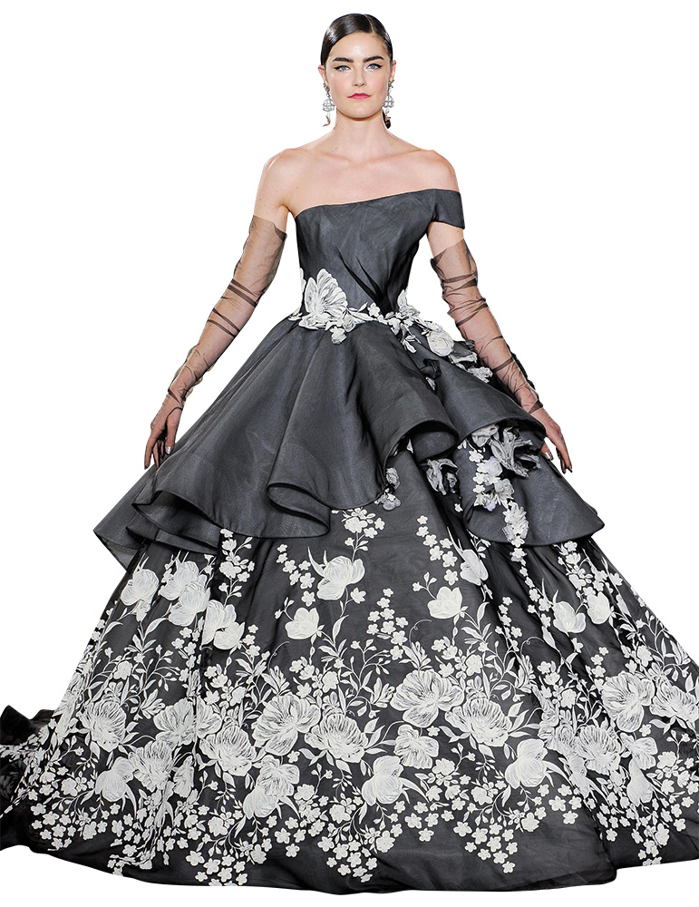 Black Wedding Gown by Ines Di Santo