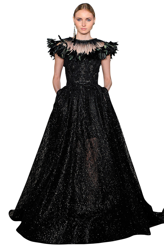 Black Wedding Gown by Lazaro