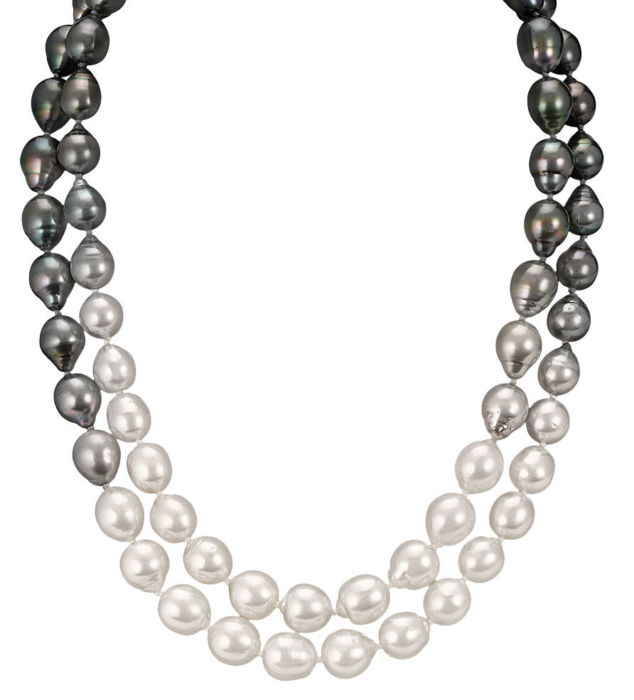 Cultured pearl strand necklace by Shane Co