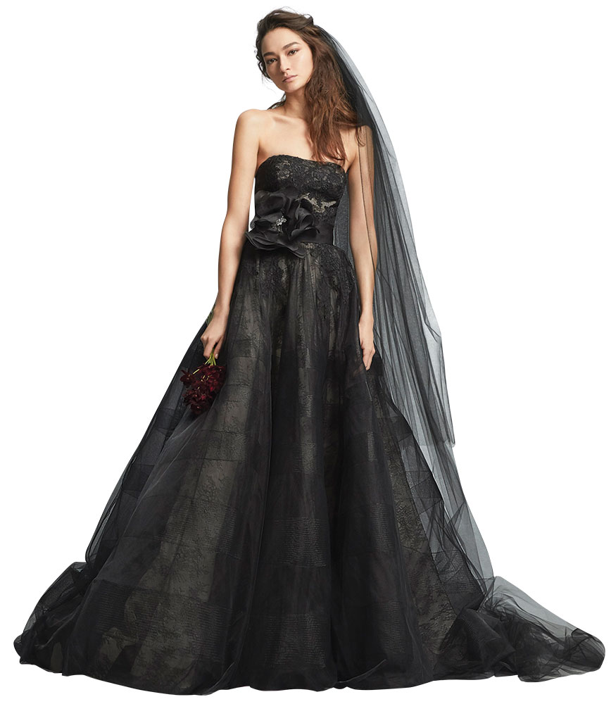Wedding Gowns Accessories: Smoky Black And Gray Wedding Gowns And Accessories BridalGuide