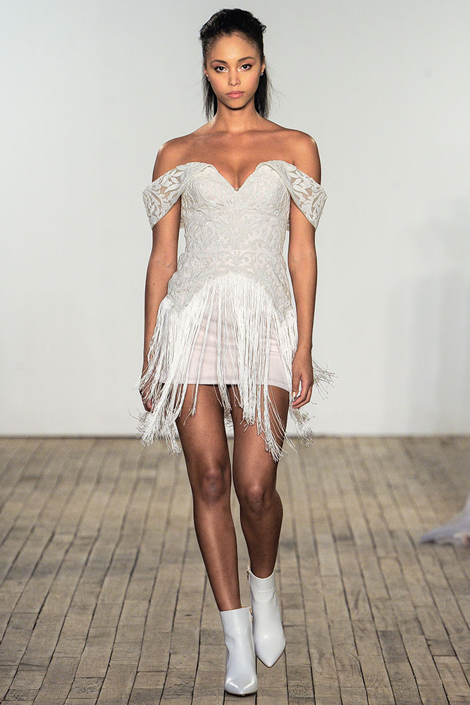 Fringe dress by Hayley Paige