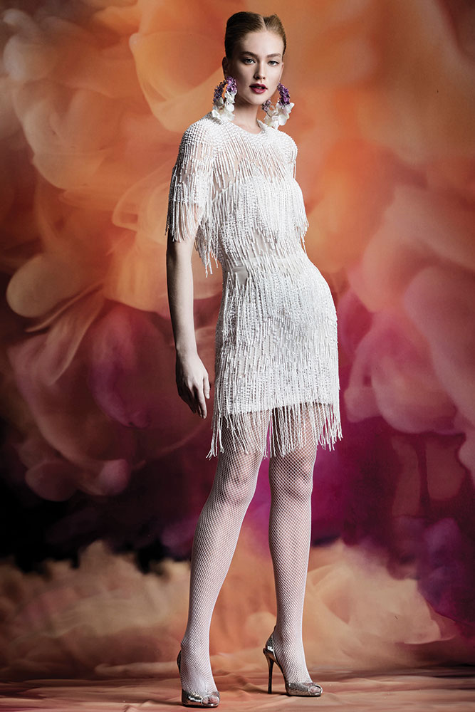 Fringe dress by Naeem Khan