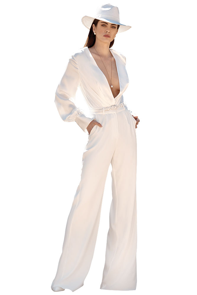 Wedding pantsuit by Leah Da Gloria