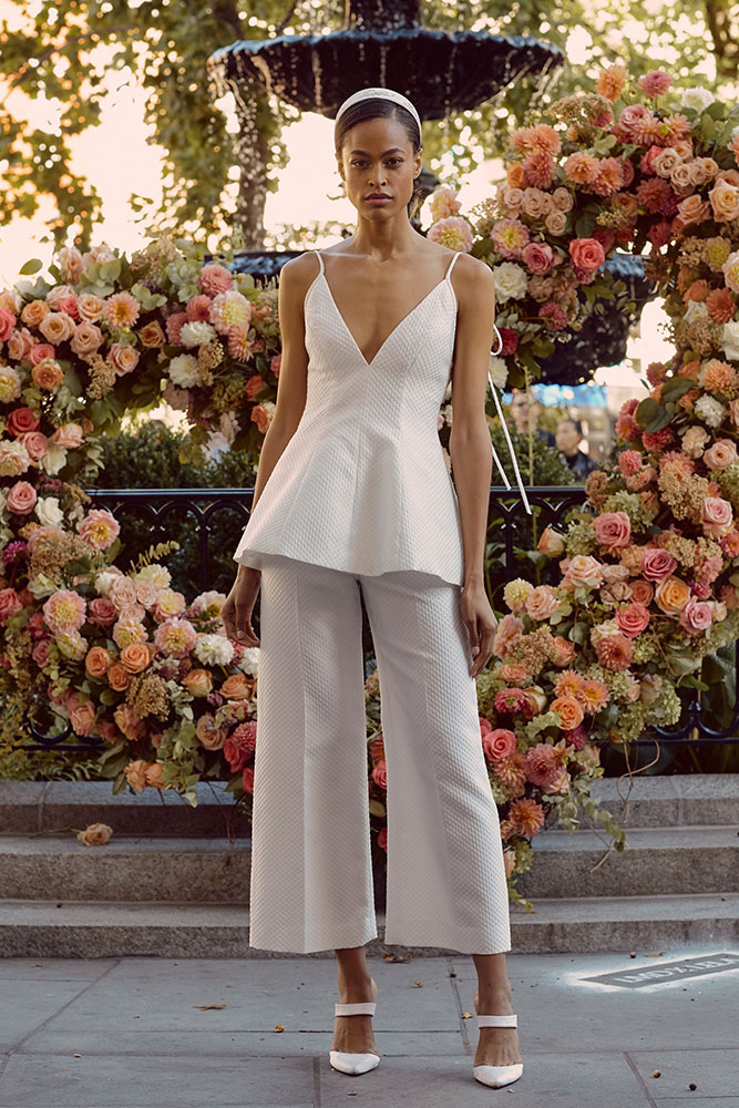 Wedding pantsuit Lela Rose