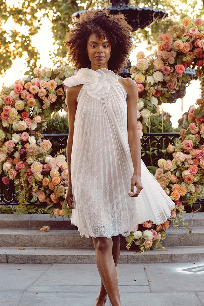 Short wedding dress by Lela Rose