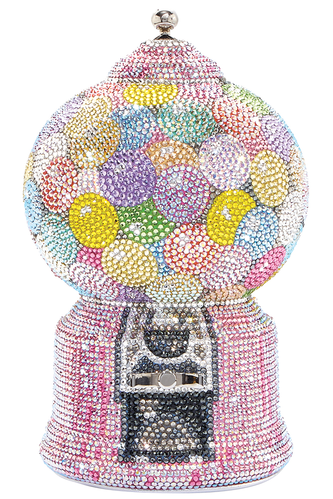 Gumball machine clutch by Judith Leiber Couture