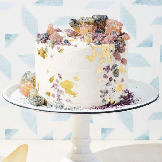 Watercolor wedding cake by Lael Cakes