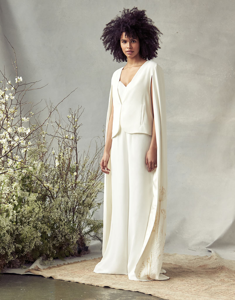 Wedding Jumpsuit with Cape