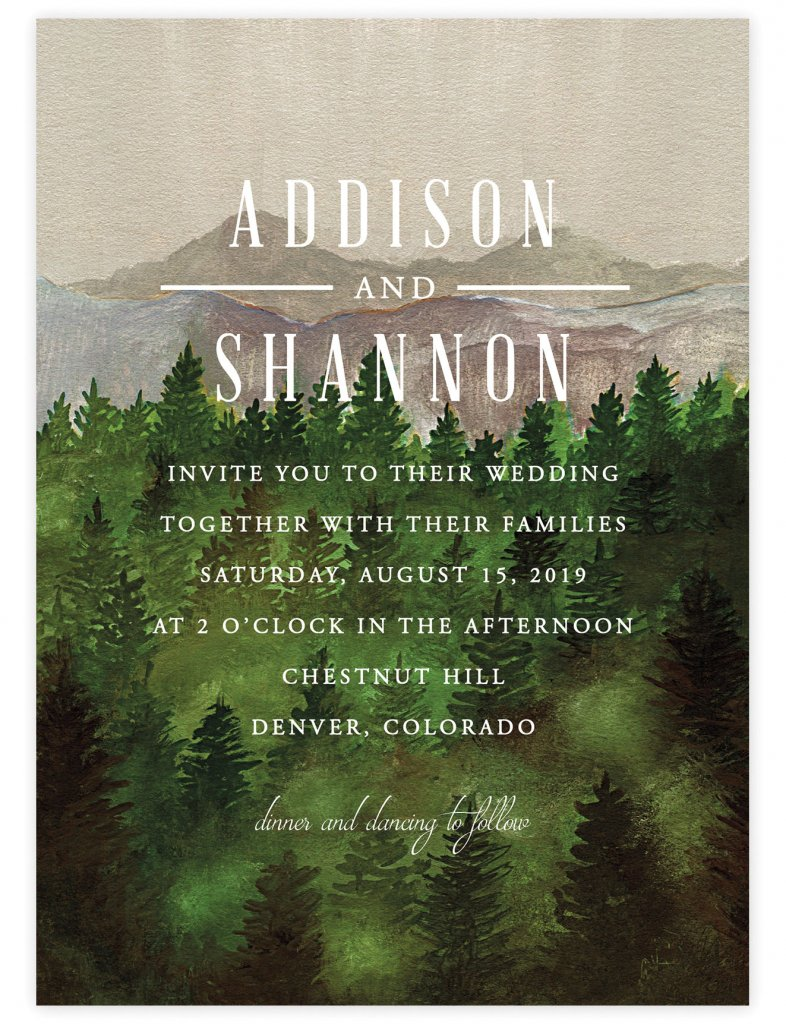 forest invite by elly for minted