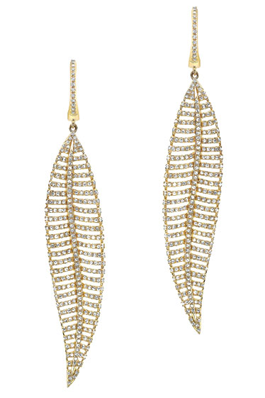 gold earrings by anne sisteron