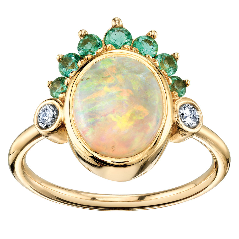 opal ring by marrow fine jewelry