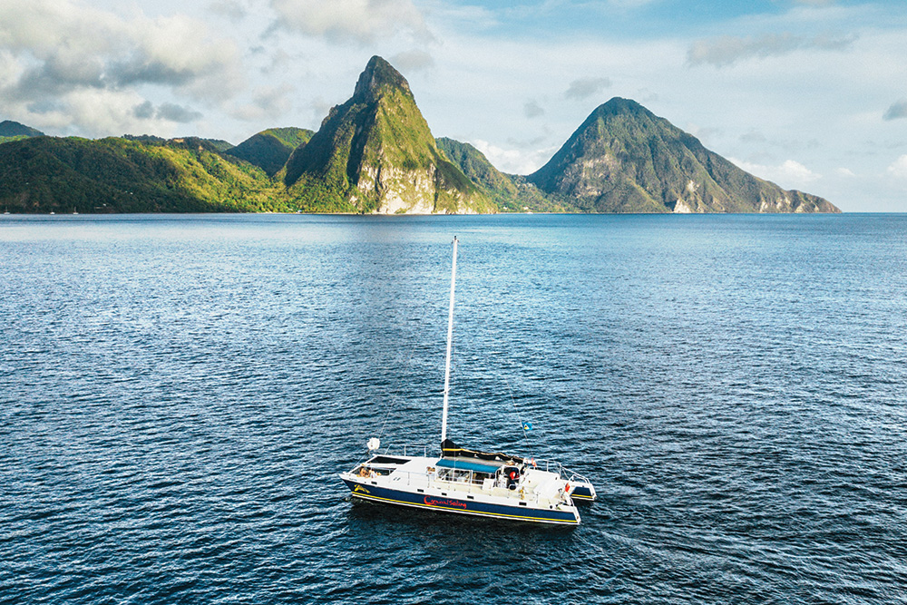St Lucia Piton mountains