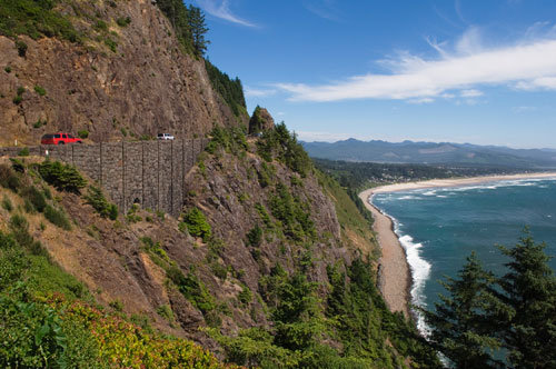 a view of oregon's coast
