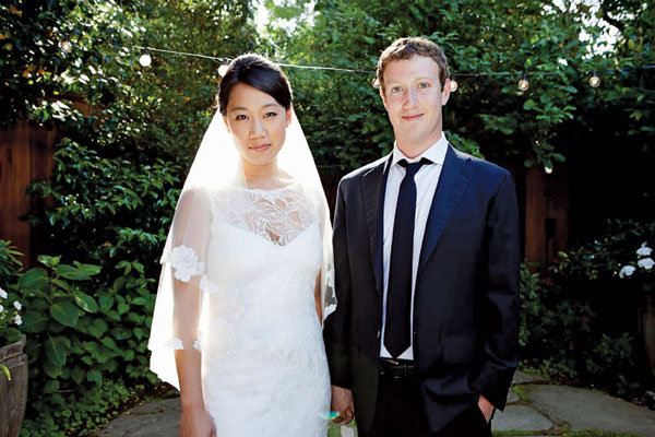 mark zuckerberg  wedding