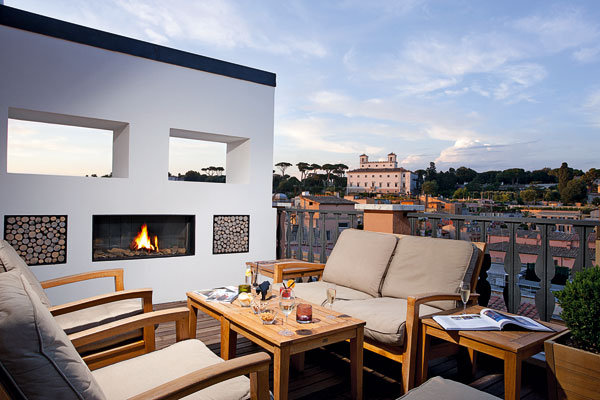 rooftop at portrait suites in rome
