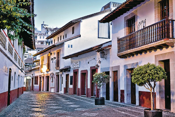 street in taxco mexico