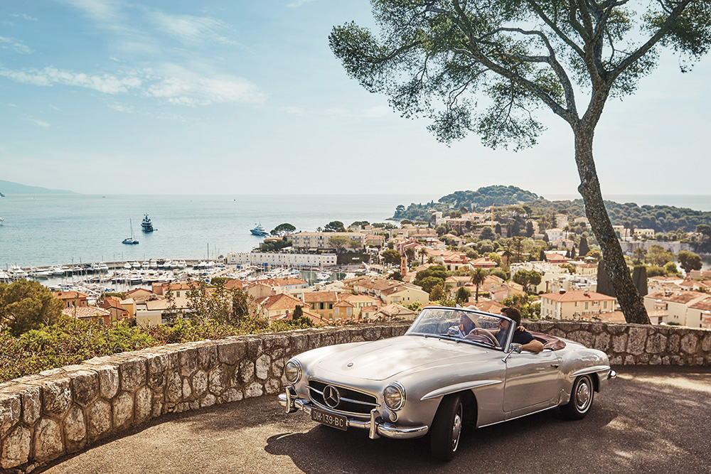 Classic car road trip in Europe