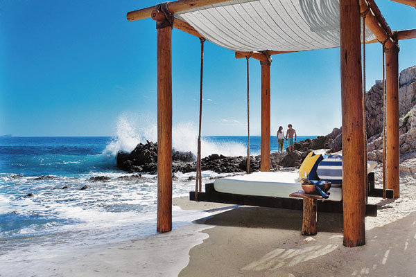 floating beds at one and only palmilla
