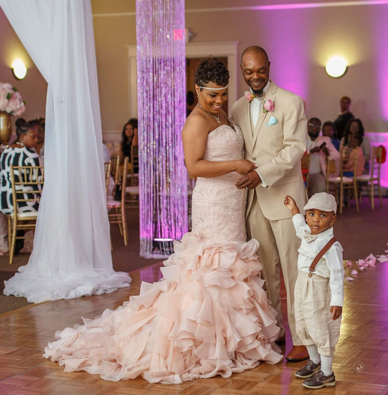 maggie sottero wedding gown adorable ring bearer
