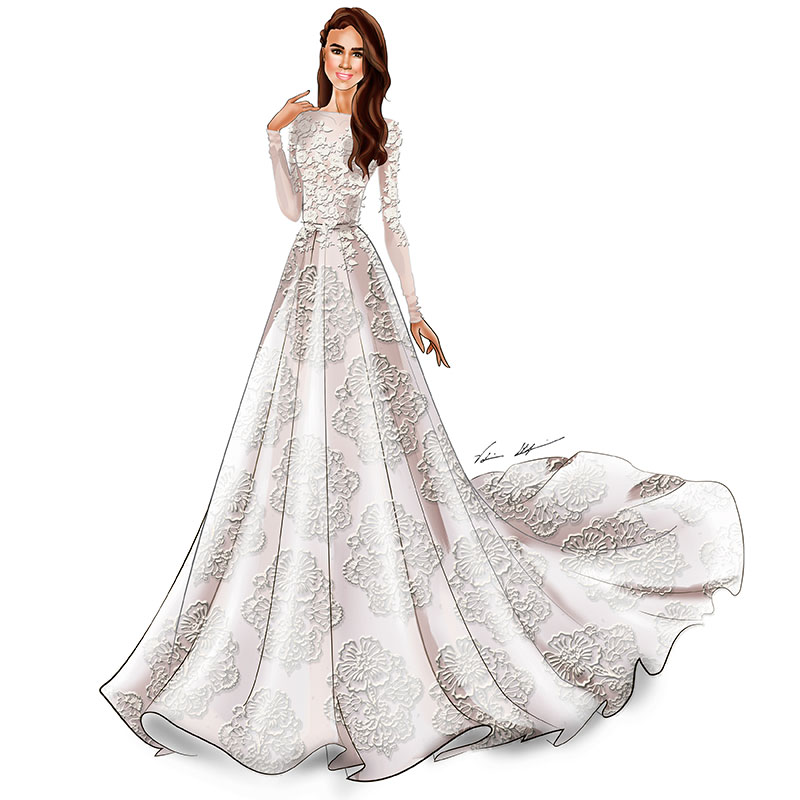 a3e0fd2de2 This is What Meghan Markle s Wedding Dress Will Look Like BridalGuide