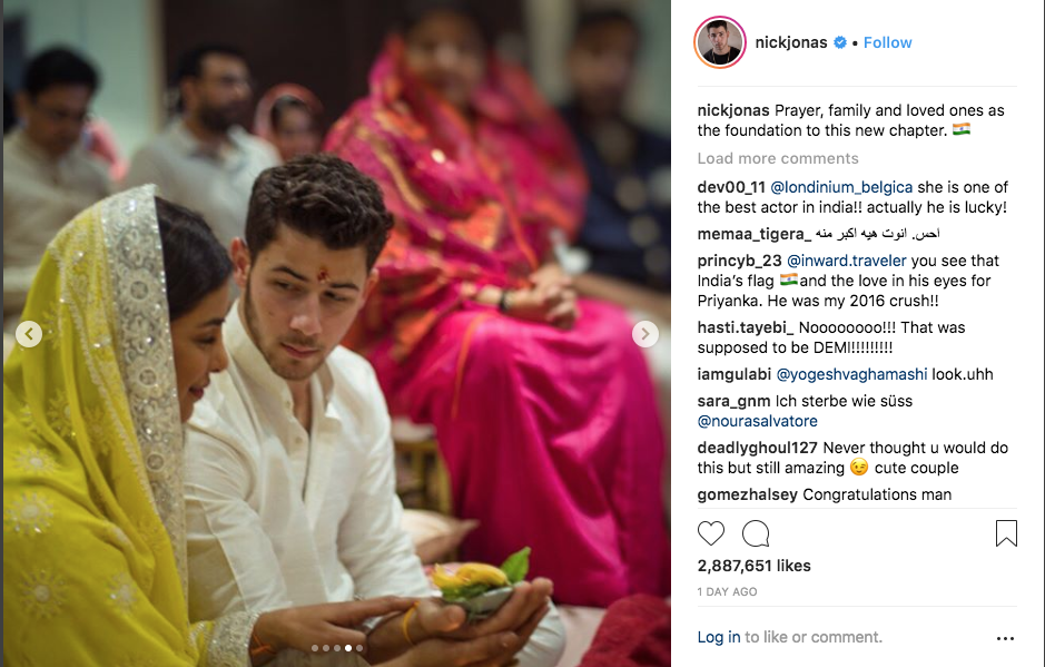 Nick Jonas and Priyanka Chopra in India