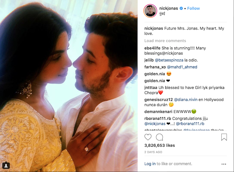 Nick Jonas and Priyanka Chopra Engagement Confirmed