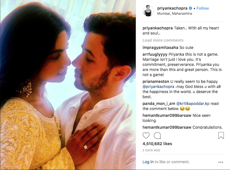Nick Jonas and Priyanka Chopra Appear to Have Gone Instagram Official picture