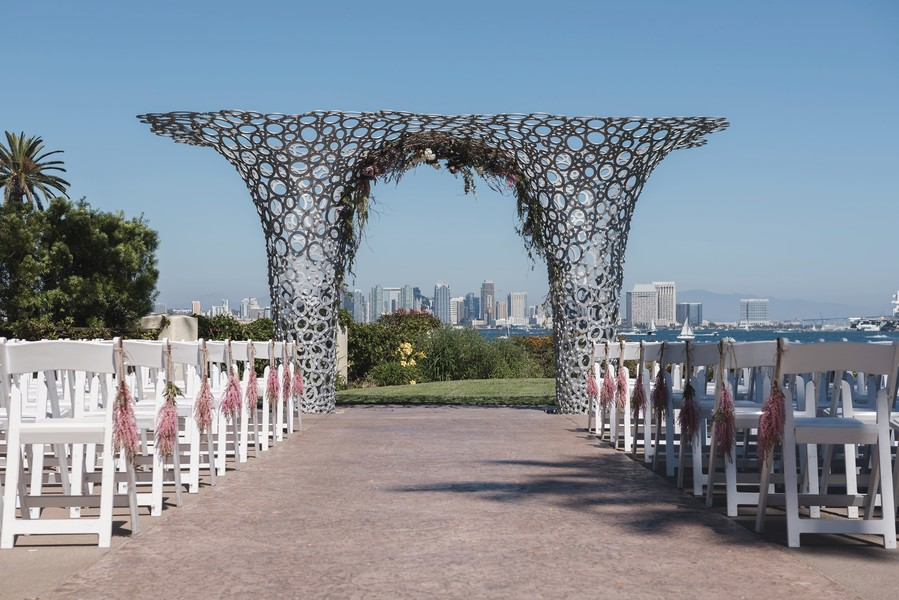 Modern Outdoor Wedding Ceremony Structure