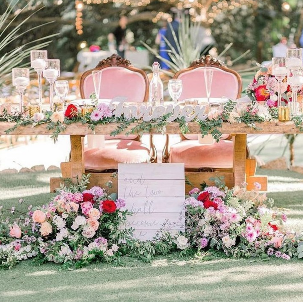 Pink Velvet Sweetheart Chairs