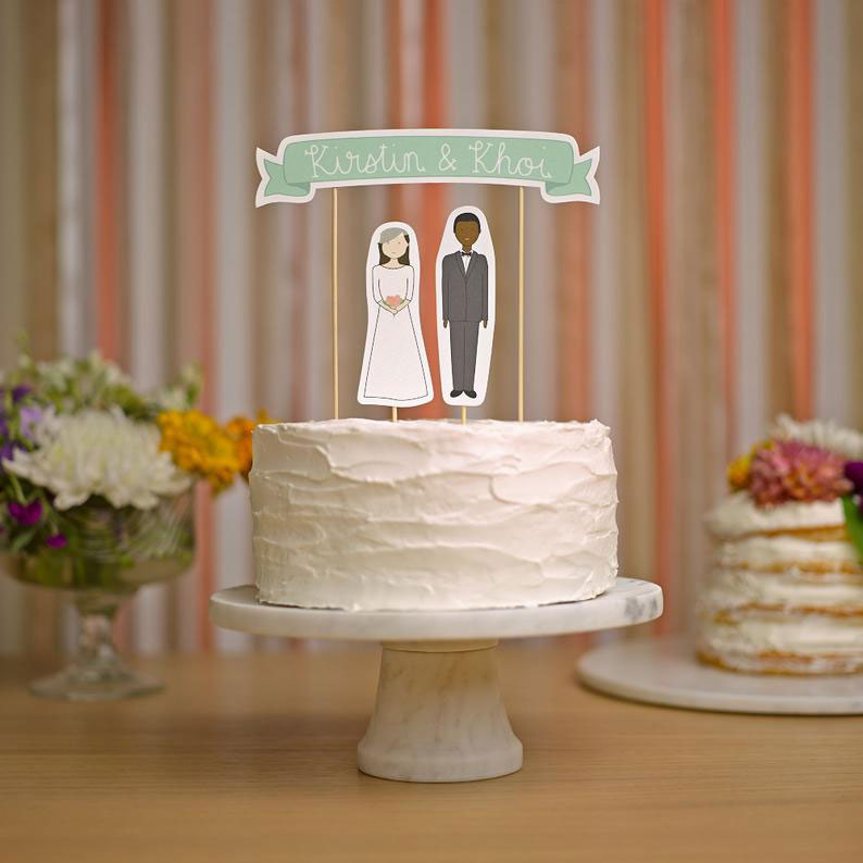 Sustainable Cake Topper