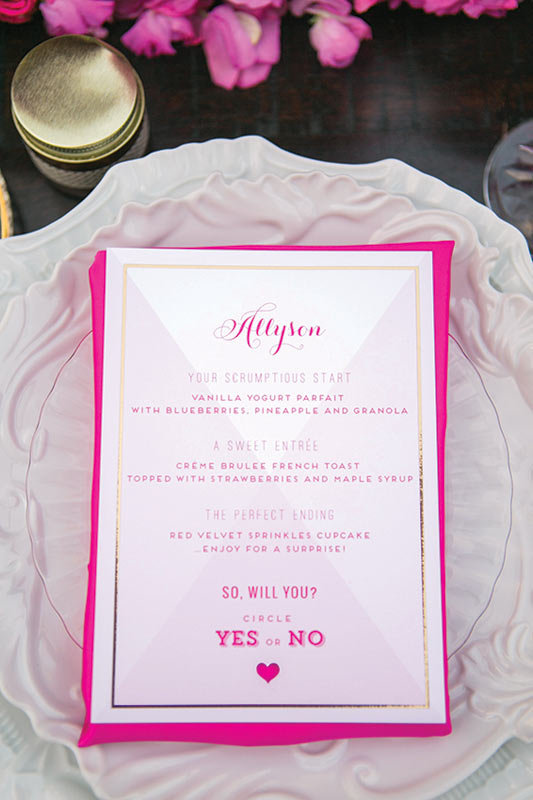 bridesmaid lunch menu