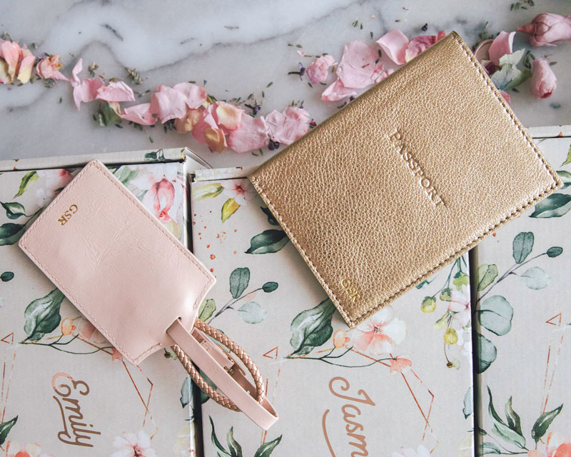Passport Holder and Monogrammed Luggage Tag