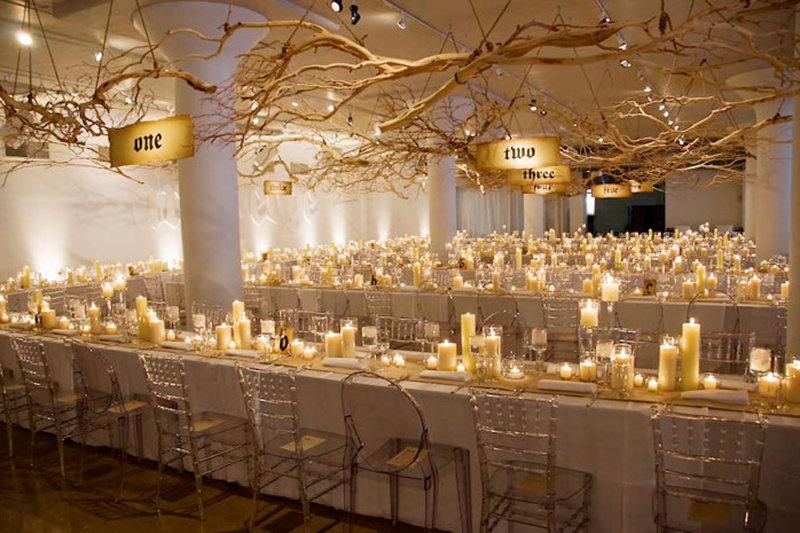 75 Ways to Throw a Luxury Wedding on a Budget - long tables with candles