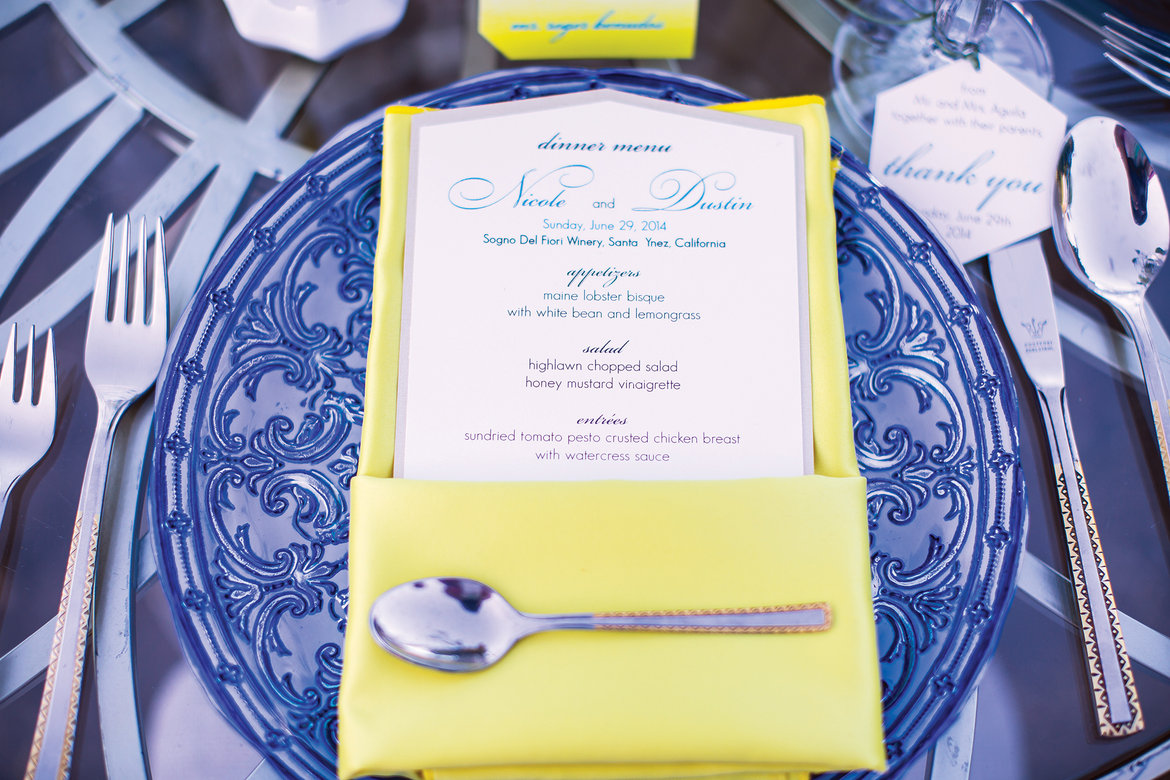 75 Ways to Throw a Luxury Wedding on a Budget - wedding menu