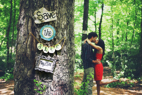 10 creative photo save the date ideas bridalguide the great outdoors baked goods to bribe your most photo savvy friend to take the shot simple yet eye catching save the date nights junglespirit Choice Image