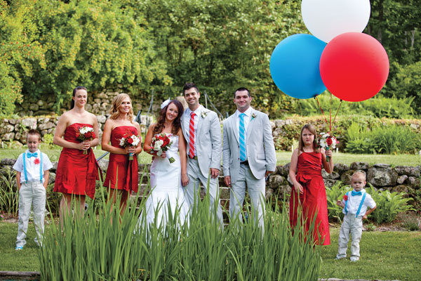 red bridesmaid dress Photo Credit Meg Hamilton of Rodeo Co