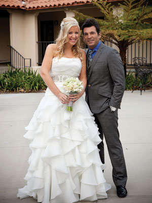 david tutera and bride michelle pierce on location in los angeles